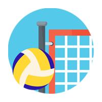 Installation des terrains de volley